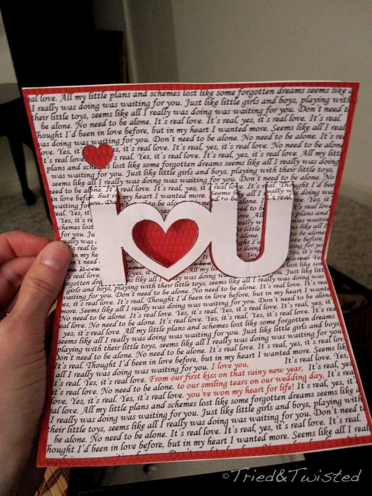 I Love You Pop Up Card Template Elegant Tried And Twisted Pop Up Valentine S Day Card Diy Valentines Cards Valentines Day Cards Handmade Diy Valentines Gifts