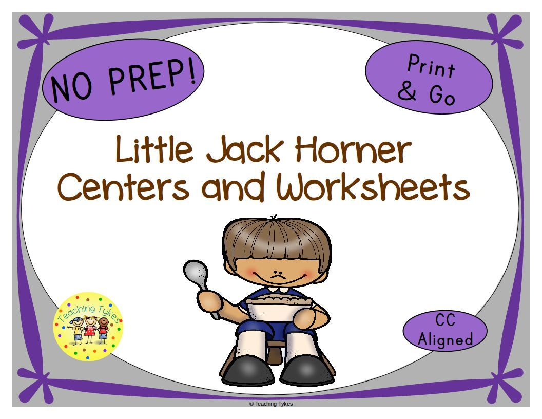 Little Jack Horner Activities With Images