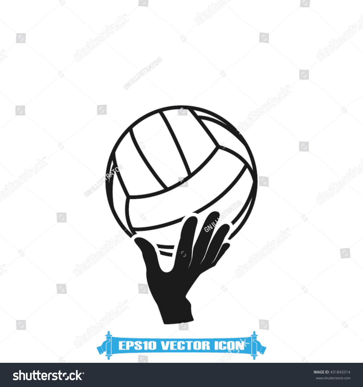 Volleyball Icon Vector Illustration Eps10 Ad Aff Icon Volleyball Vector Illustration In 2020 Photography Website Vector Icons Icon