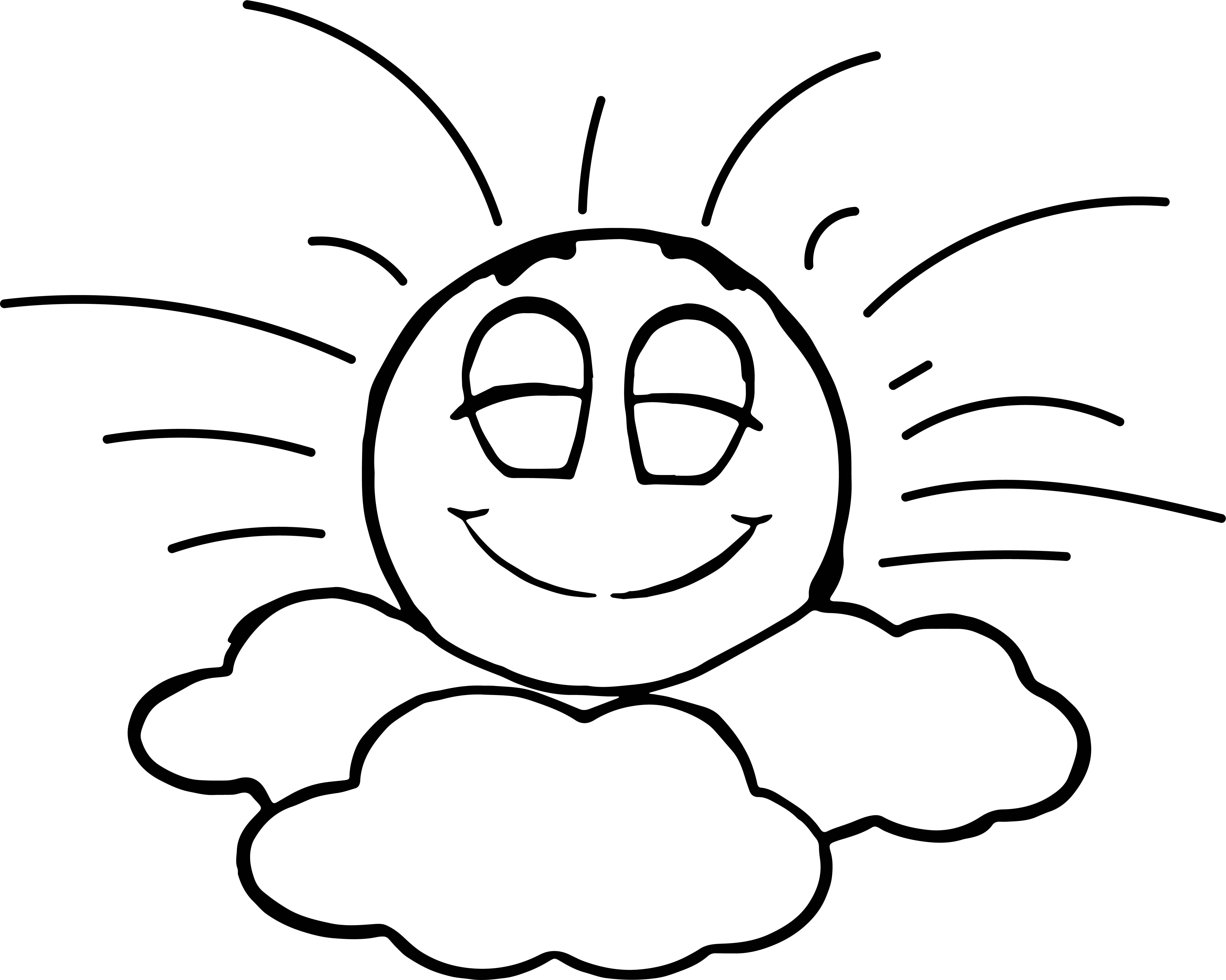 Emoticon In Seventh Heaven Sunny Sky Coloring Page Wecoloringpage Com Coloring Pages Seven Heavens Animal Drawings
