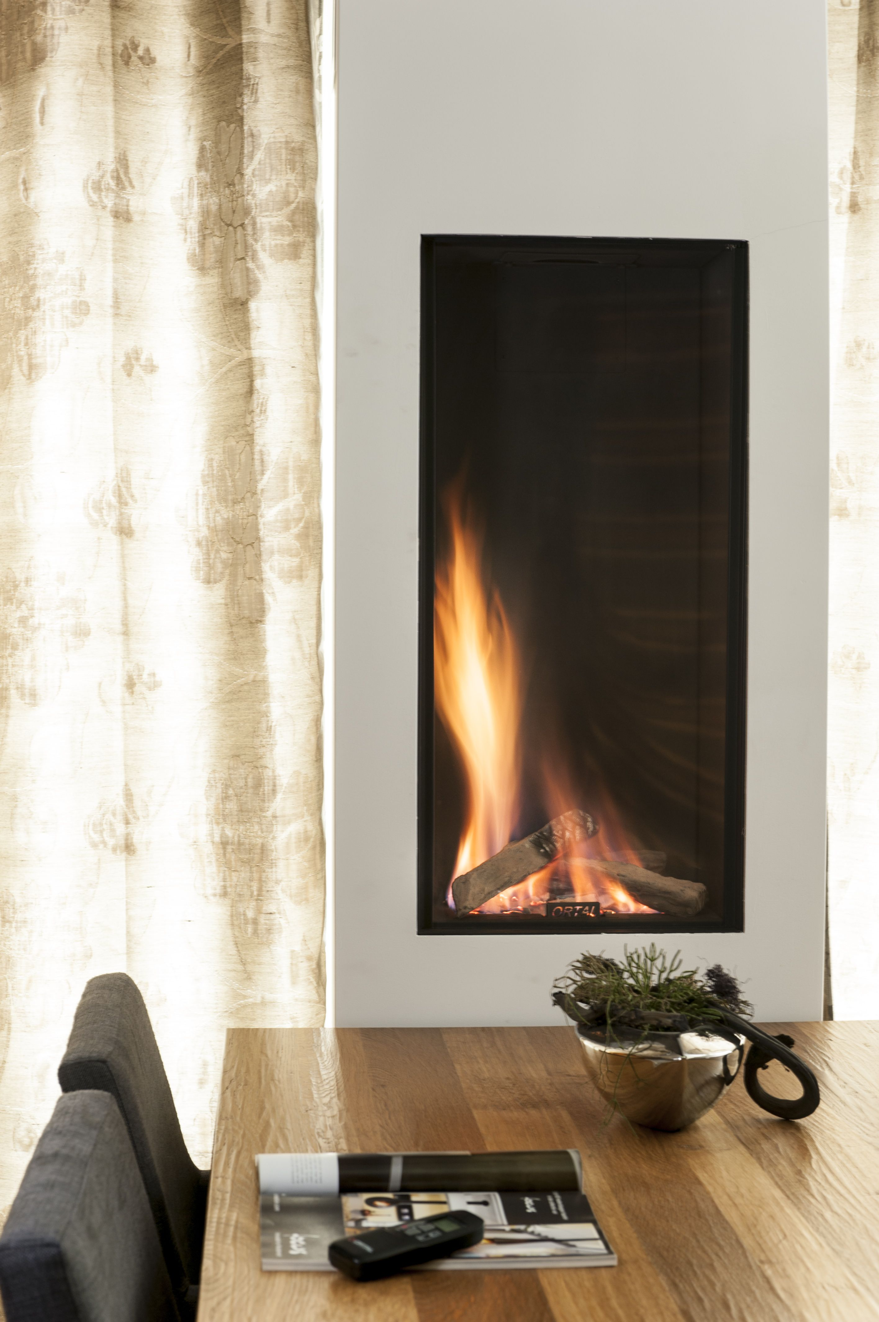 Ortal Usa Clear 40h Contemporary Fireplace Modern Fireplace Indoor Fireplace