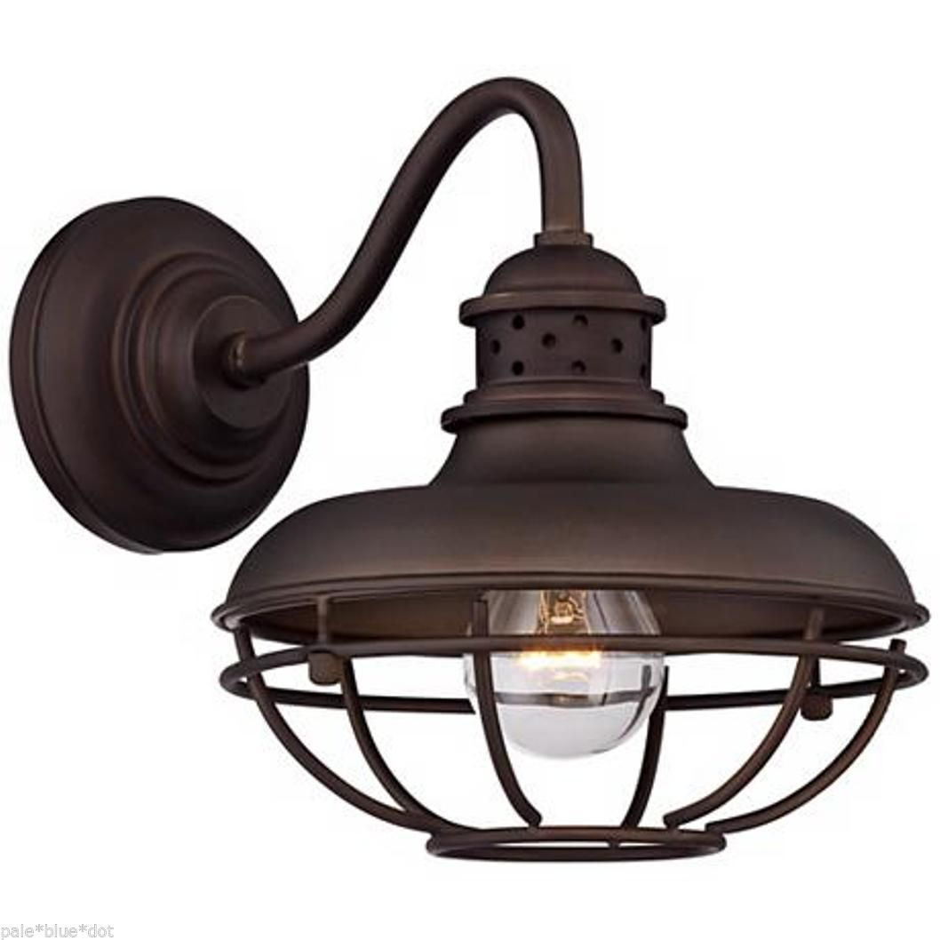 outdoor cage light retro industrial wall franklin park metal cage 9