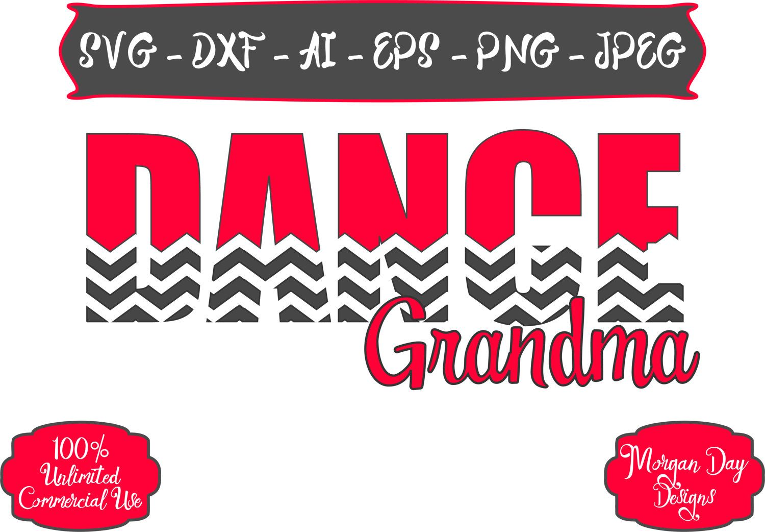 Dance Grandma SVG Dance SVG Chevron SVG Dancer svg