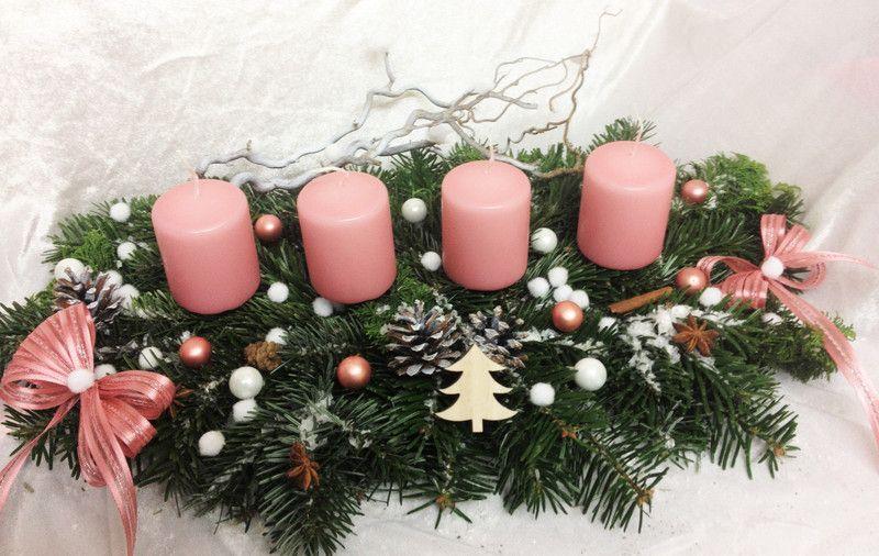 adventskranz adventsgesteck gesteck frisch von. Black Bedroom Furniture Sets. Home Design Ideas