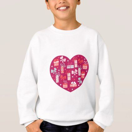 Valentine\'s Day Heart Full of Gifts of Love Sweatshirt | Romantic ...