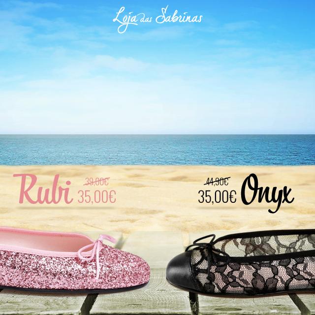 Sabes o que têm em comum as sabrinas Rubi e Onyx? A resposta é o fantástico desconto que não podes perder!  http://www.lojadassabrinas.com/promotions
