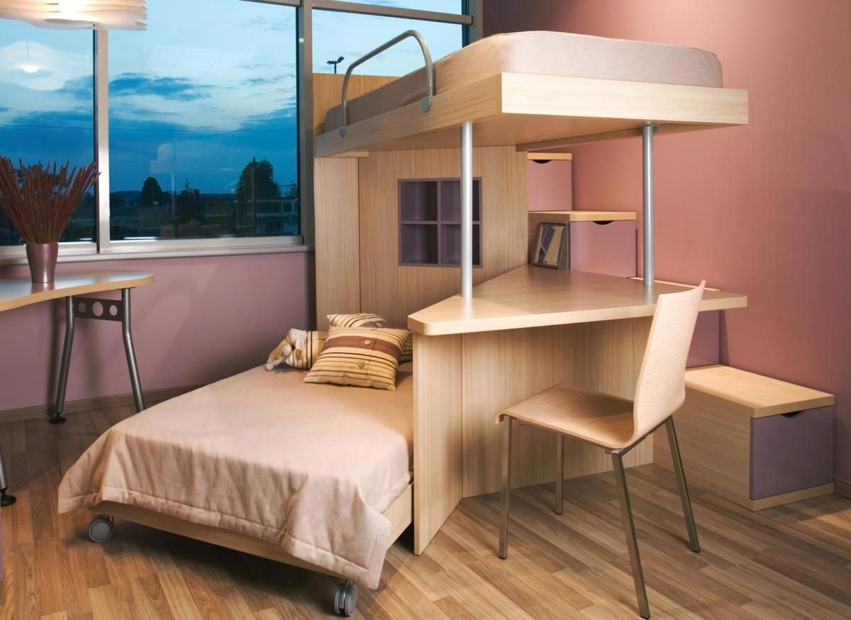 Loft bed ideas girls  Lovely Spacesaving Loft Bed Ideas for Girls  Two Story Bunk Beds