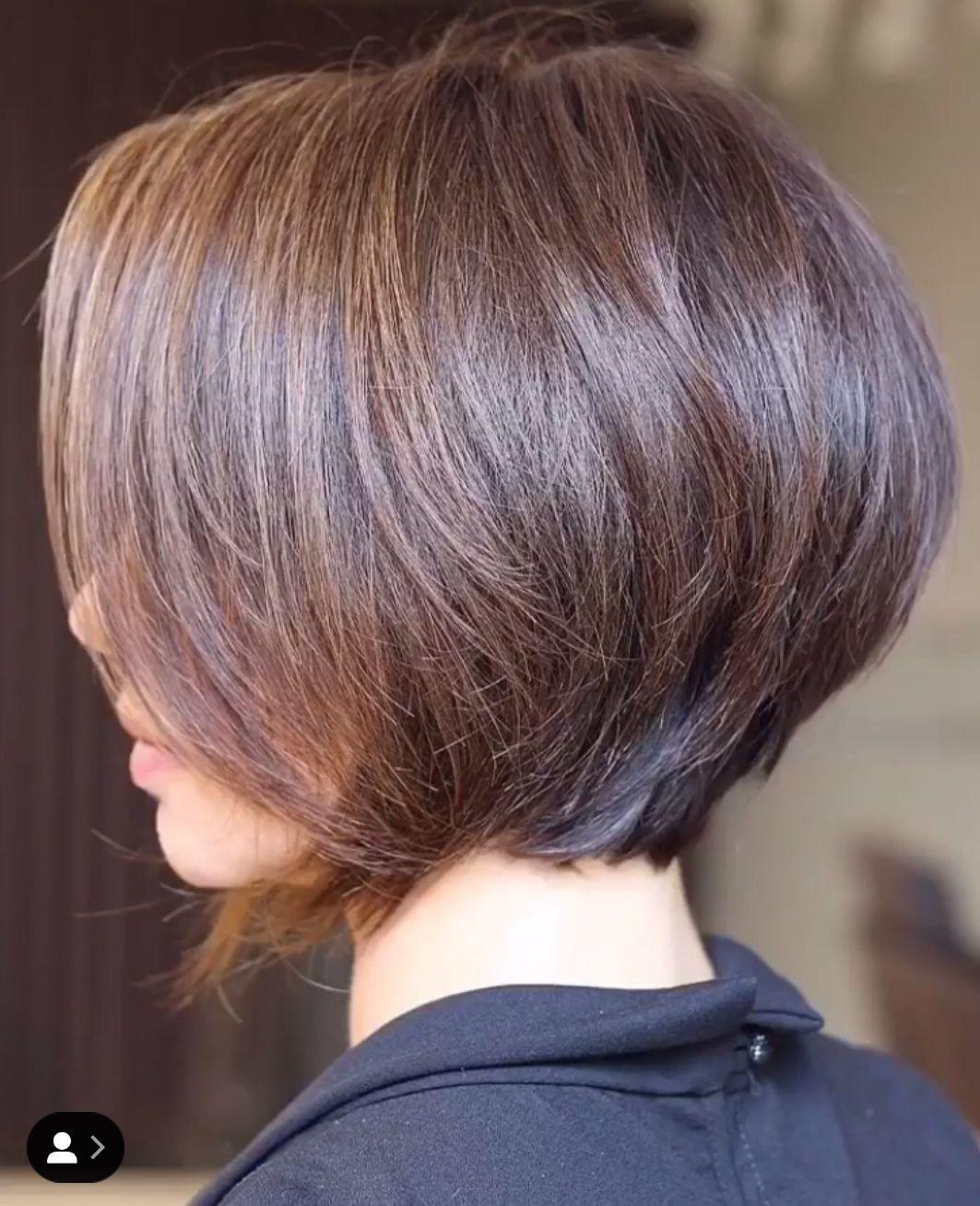 Epingle Par Hairstyling Contact Sur Bobs En Lobs Zijkant 02 Cheveux Courts Coupe De Cheveux Courte Coupe De Cheveux