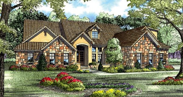 Mediterranean Style House Plan 82117 With 5 Bed 4 Bath 3 Car Garage Tuscan House Plans Dream House Plans Luxury House Plans