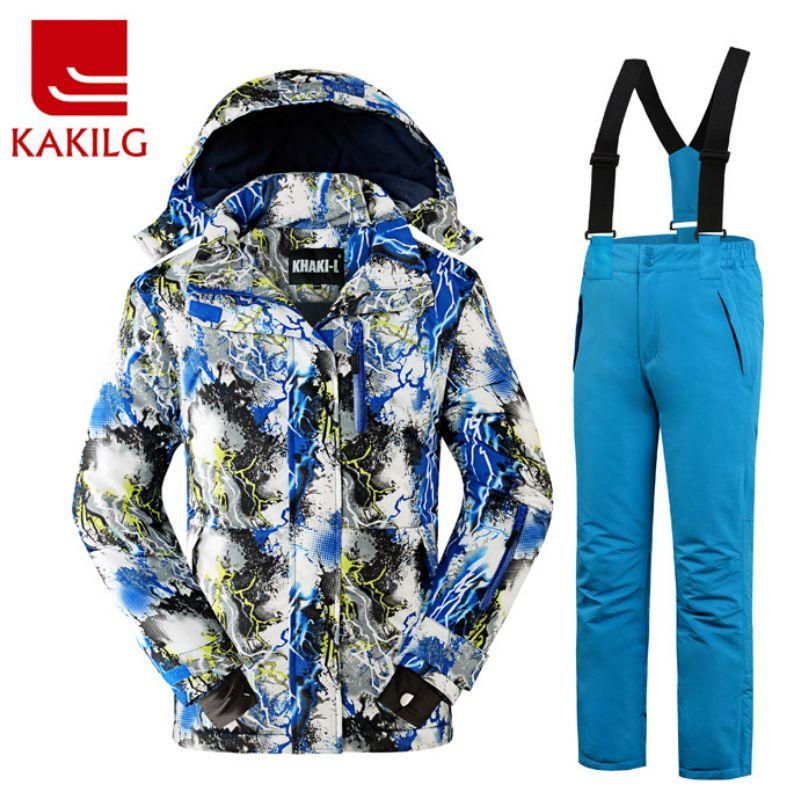 e932d29575 KAKILG Outdoor Winter Children Ski Suit Skiing Jackets Set Girls Sports  Waterproof - US  66.12