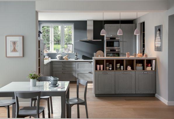 Id es d co pour d limiter une cuisine ouverte sur salon 1 3 nuances murs b - Photo de cuisine ouverte sur sejour ...