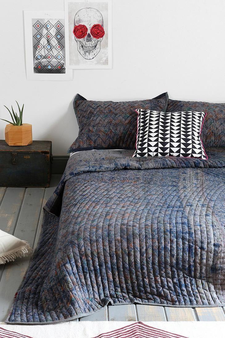 Noodle Jaipur overdyed super-soft cotton quilt. #urbanoutfitters ... : soft cotton quilt - Adamdwight.com