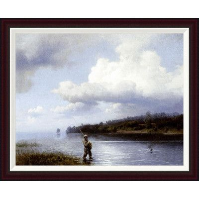 Global Gallery Fly Fishing by Hermann Herzog Framed Painting Print ...