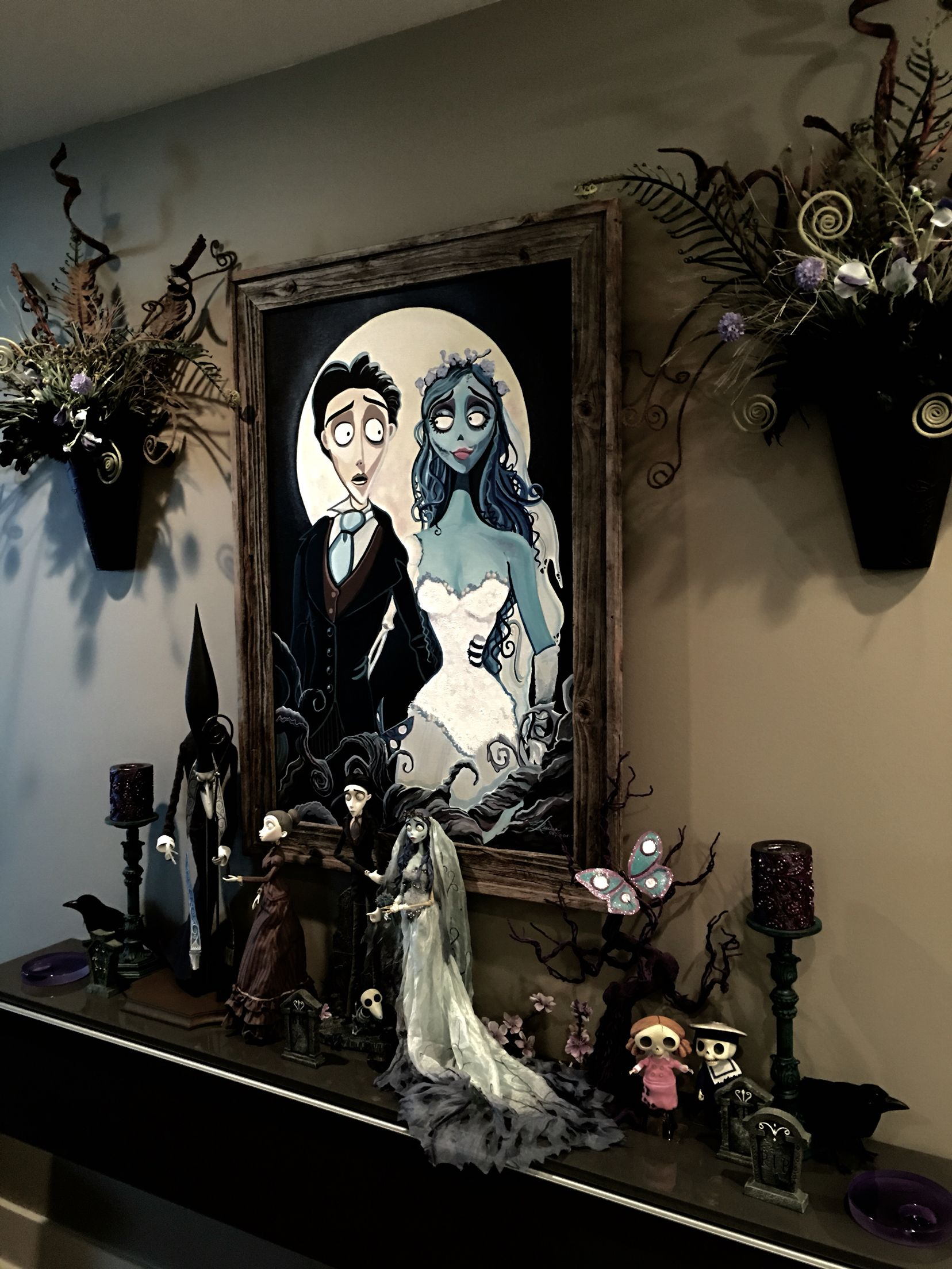 Corpse Bride Painting And Display By Felipe Rivera