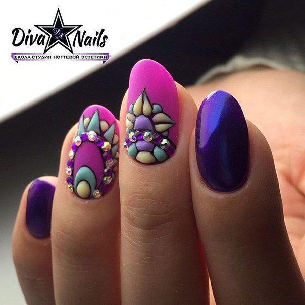 Pin de Gretty Manicura en relieve! | Pinterest | Arte de uñas ...
