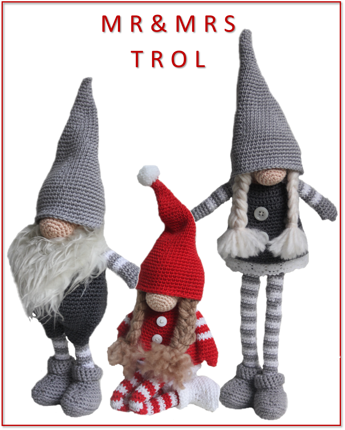 Mrmrs Trol Kerstpoppen Haken Tomte Kabouter Crochet Yarn
