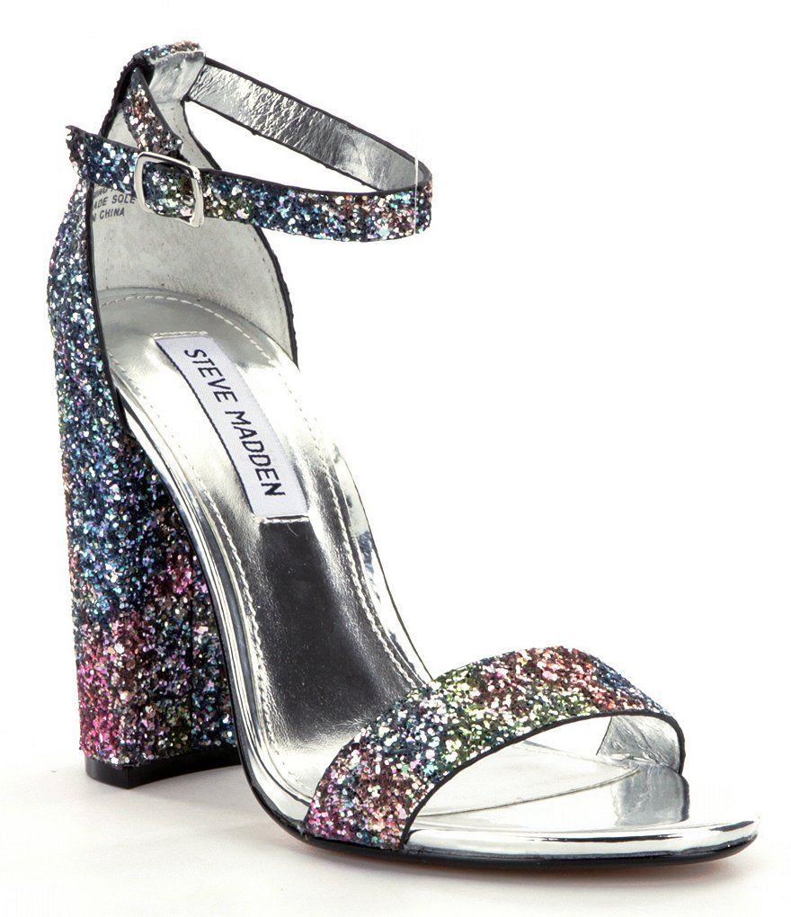 Steve Madden Carrson Sandals glitter multi $89.99