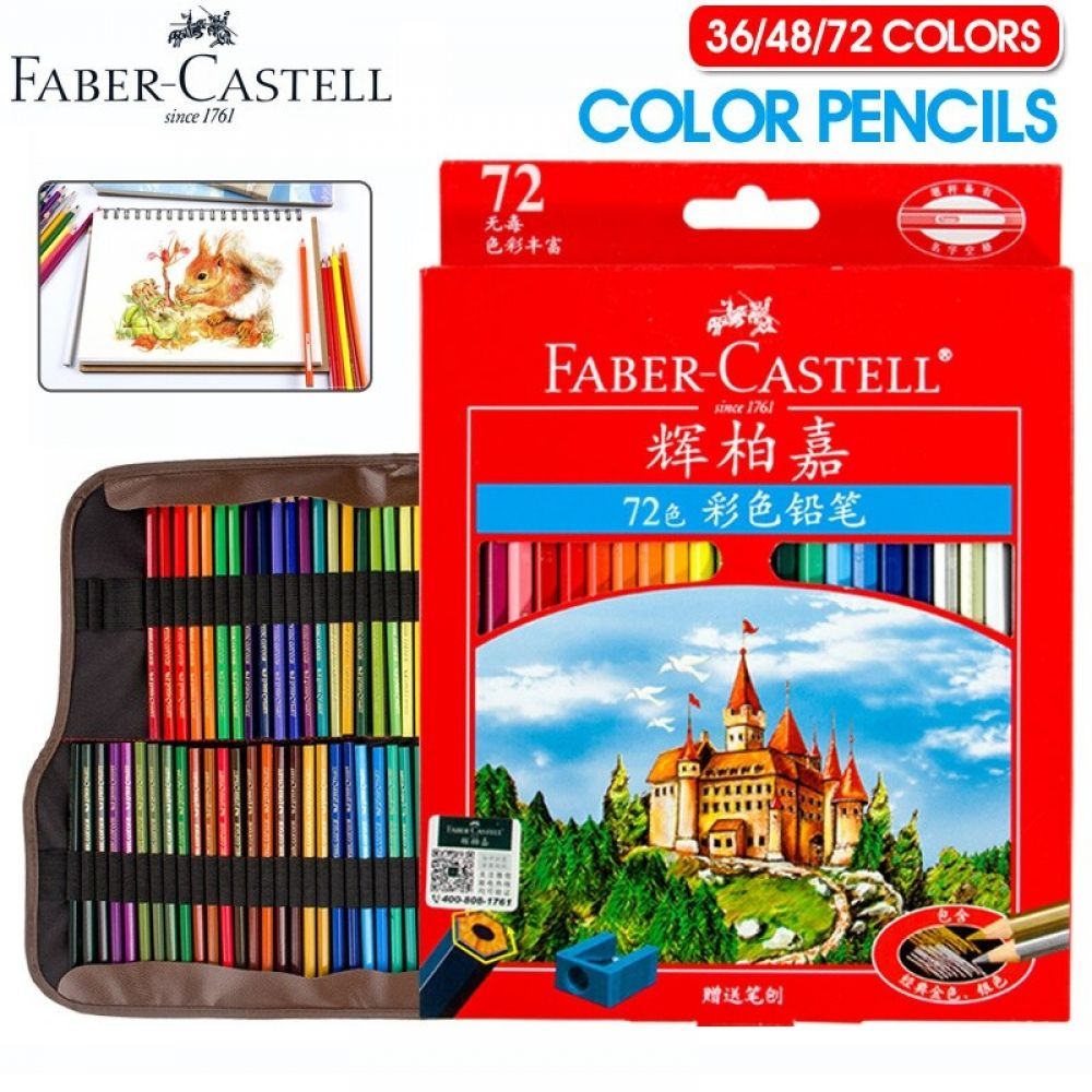 Faber Castell 36 48 72 Colored Pencils Lapis De Cor Professionals