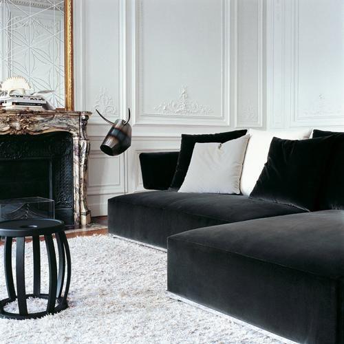 Amoenus Ac Collection By Maxalto Velvet Sofa Living Room Living Room Sofa Black Velvet Sofa