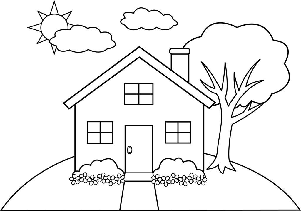 Related House Coloring Pages item-4202, House Coloring