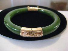 Green Jadeite Jade Bangle Bracelet