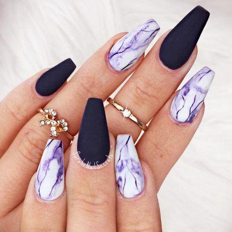 Gel Nail Art Polish Trends Part five 2018 | Purple nail ...