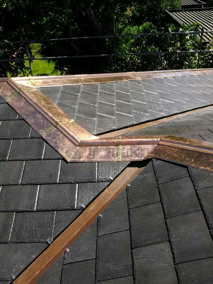 Copper Ridge Tiles Copper Roof Metal Shingle Roof Roof Cladding