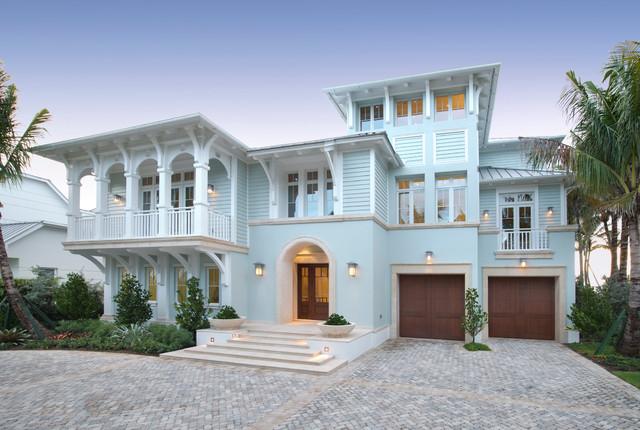 24 Blue Stucco House Ideas You'll Love
