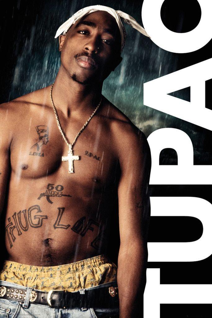 Tupac Shakur 2Pac Rain - Official Poster