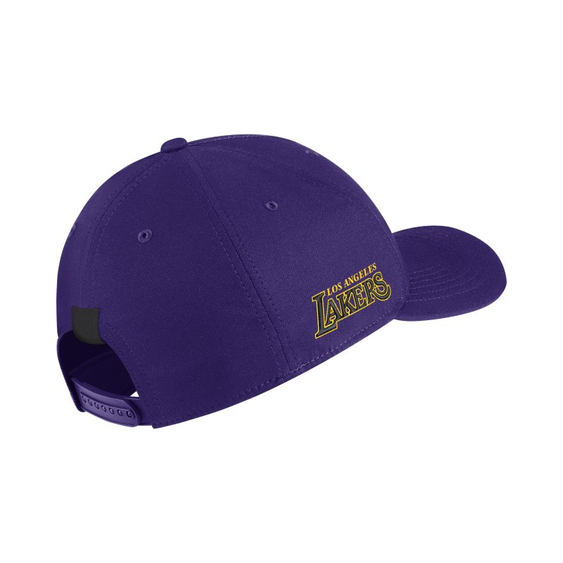 low priced 8bf2a 2d813 Los Angeles Lakers City Edition Nike AeroBill Classic99 NBA Hat - Purple