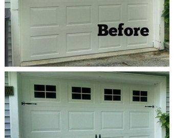 Garage Door Windows Decals Garage Faux Window Decals Window Decals Outdoor Garage Door Vinyl Windows Mock Window Decals Garage Door Design Garage Door Styles Garage Door Makeover