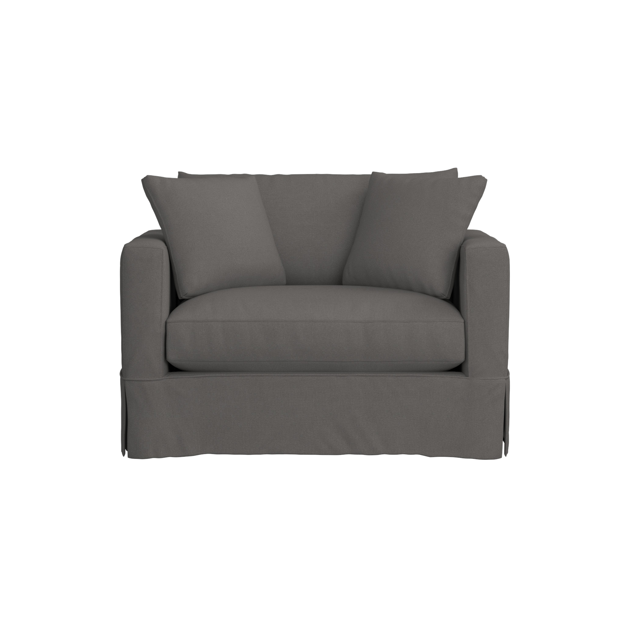 Willow White Twin Sleeper Sofa + Reviews Crate and
