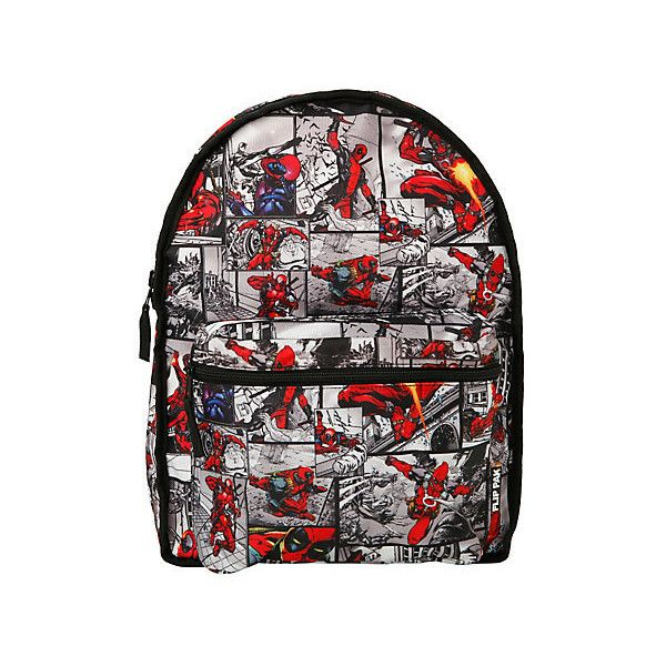 Marvel Deadpool Mask & Comic Reversible Backpack | Hot Topic (585 ARS) ❤ liked on Polyvore featuring bags, backpacks, reversible backpack, cartoon backpack, comic backpack, knapsack bags and day pack backpack