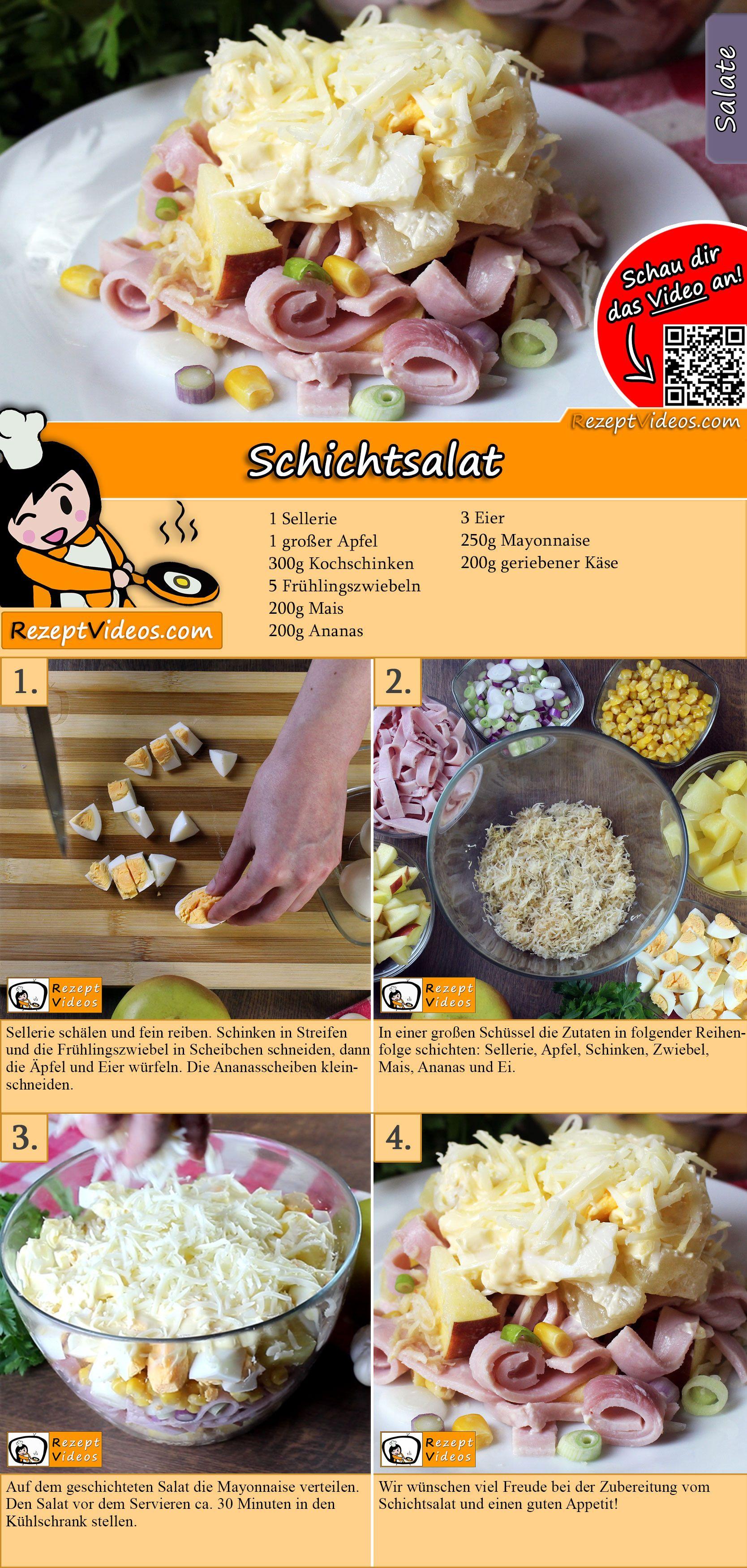Schichtsalat Rezept mit Video - Schichtsalat mit Sellerie/ Salat Rezepte