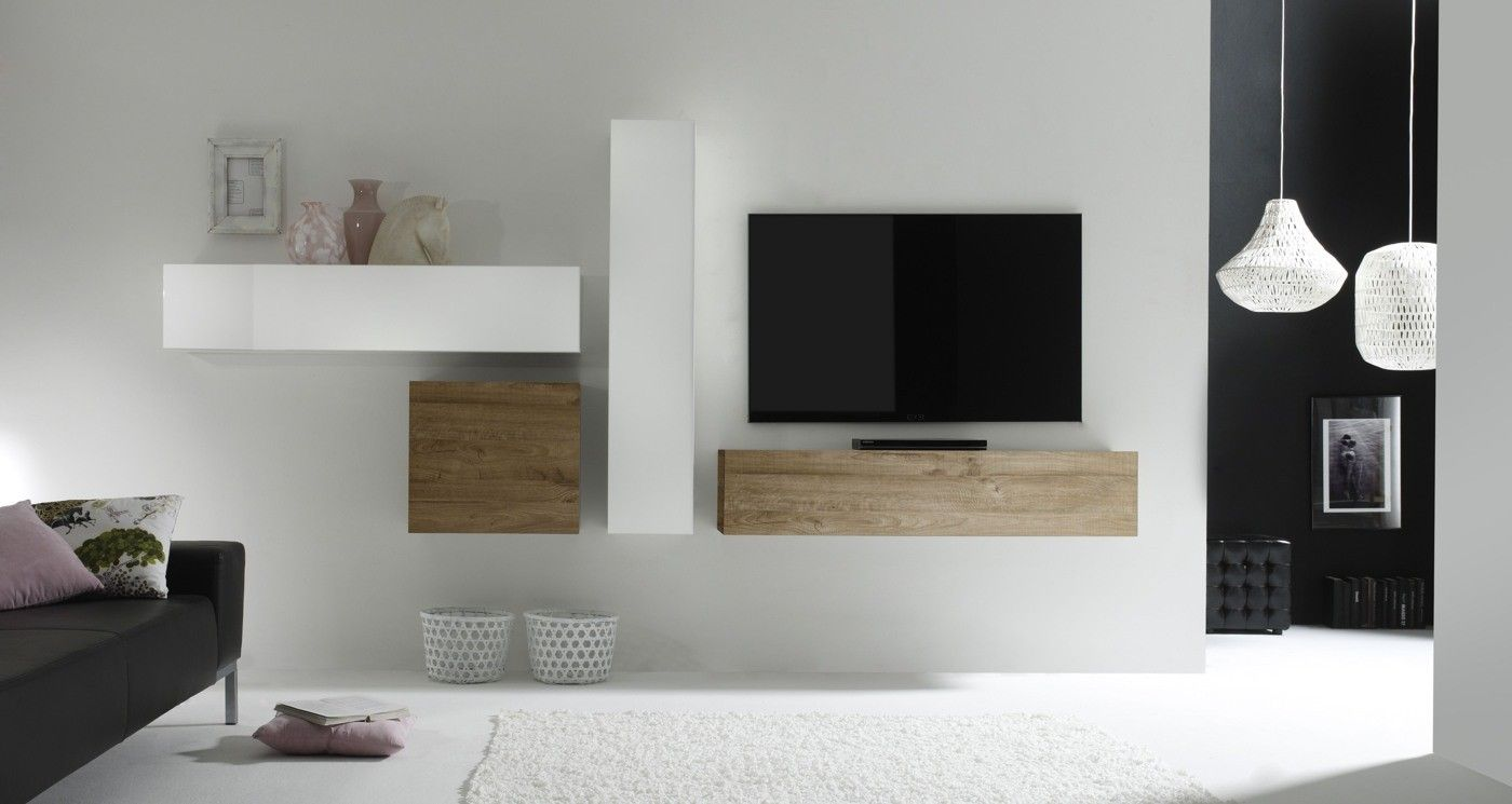 Stunning Coin Tv Design Contemporary Antoniogarcia Info  # Meuble Tv Suspendu En Planche