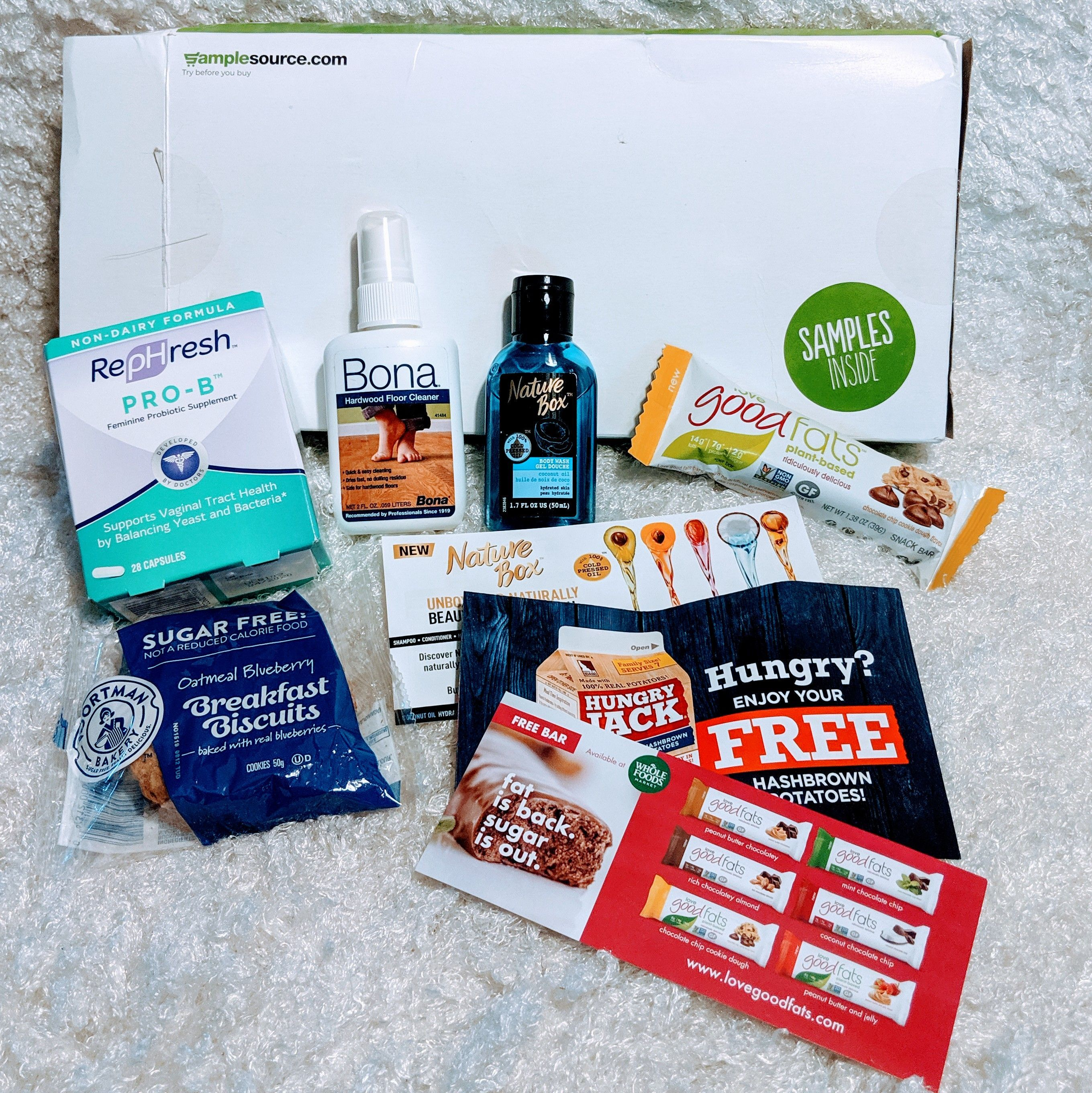 Got My Sample Source Box Filled With Absolutely Free Samples To