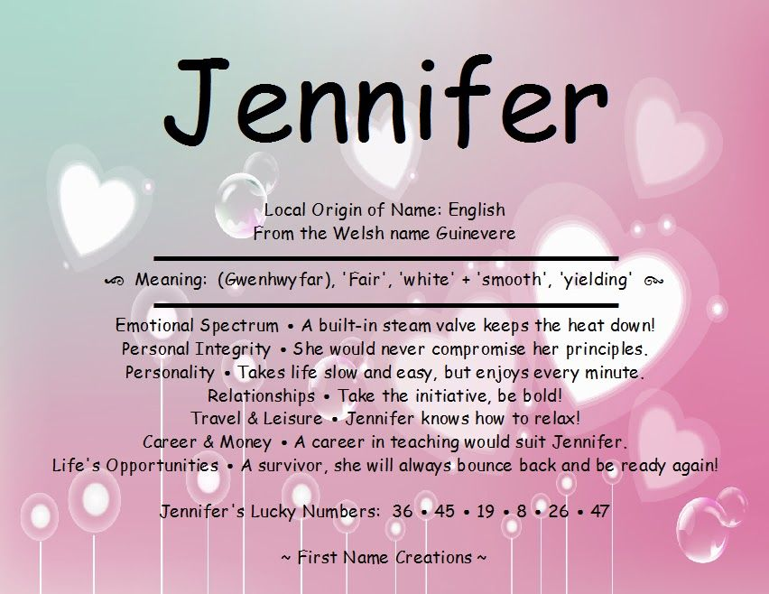biblical meaning of name jennifer