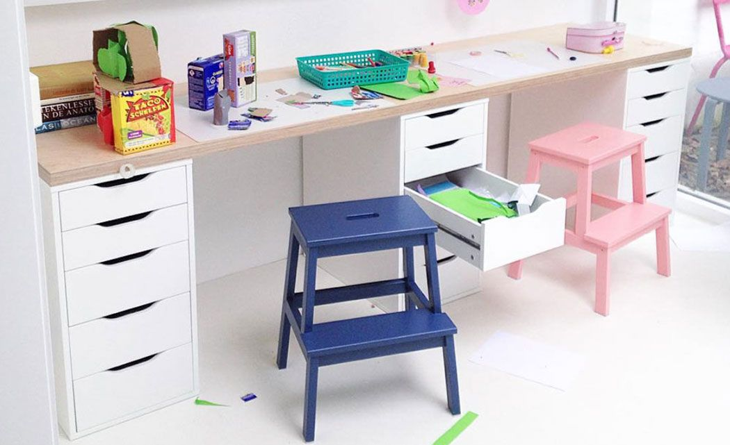 ikea hocker f r kinder versch nern ikea hacks pinterest kinderzimmer schreibtisch und. Black Bedroom Furniture Sets. Home Design Ideas