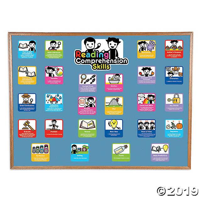reading comprehension  u0026 skills mini bulletin board set