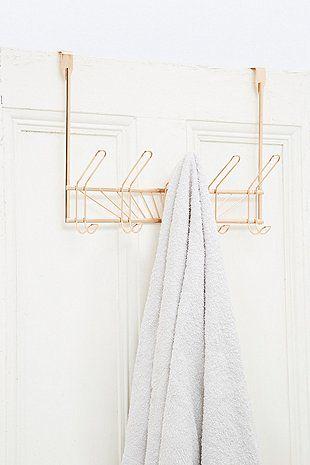 Porte-serviettes à 5 crochets à suspendre couleur or rose Home - decoration portes d interieur