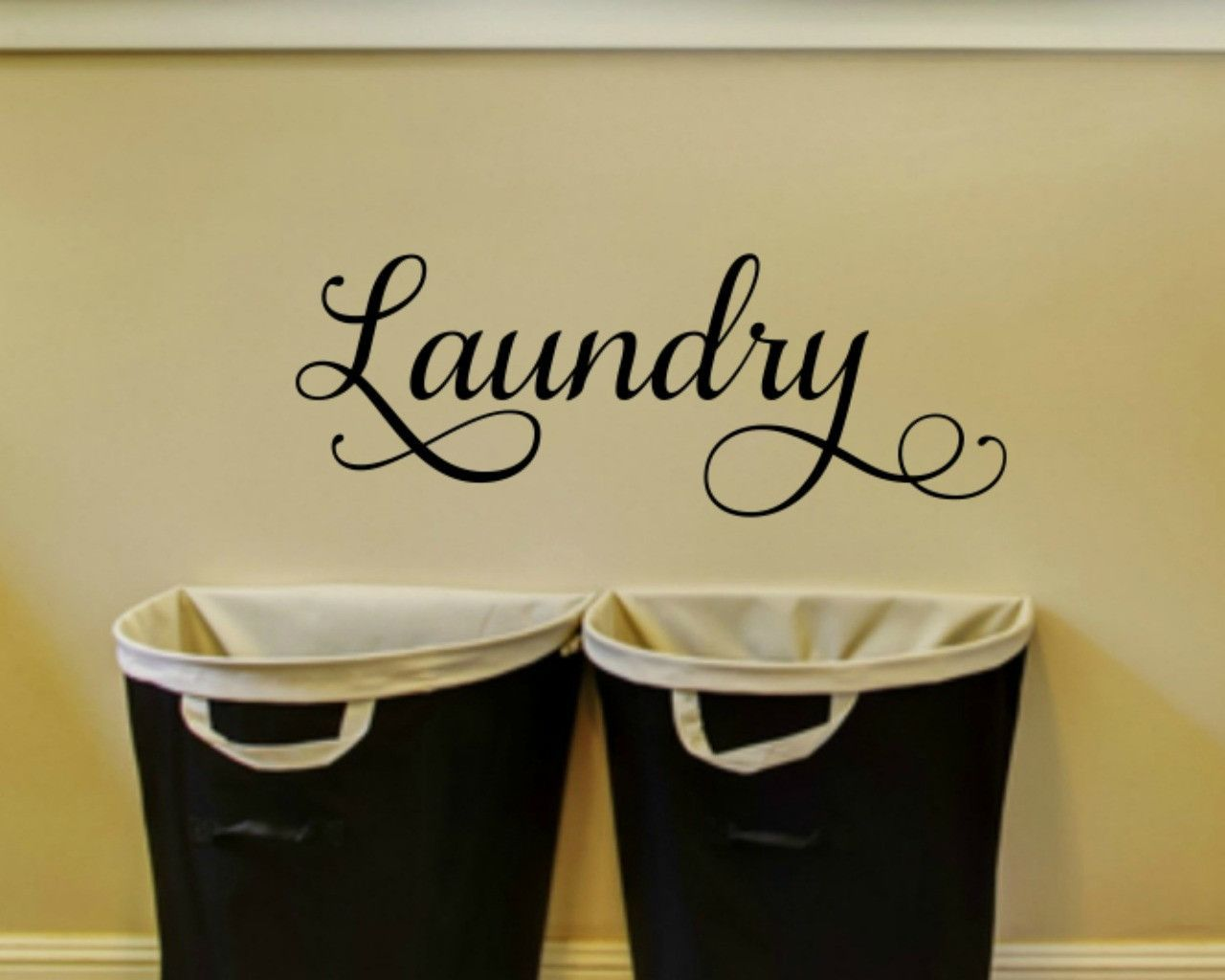Laundry Door Decal Laundry Room Wall Decal | Laundry rooms, Laundry ...
