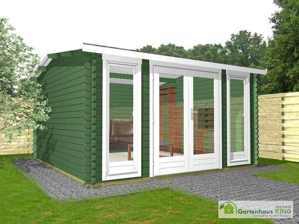eBay Sponsored Gartenhaus Holz 4x3m Holzhaus Laube 40 mm