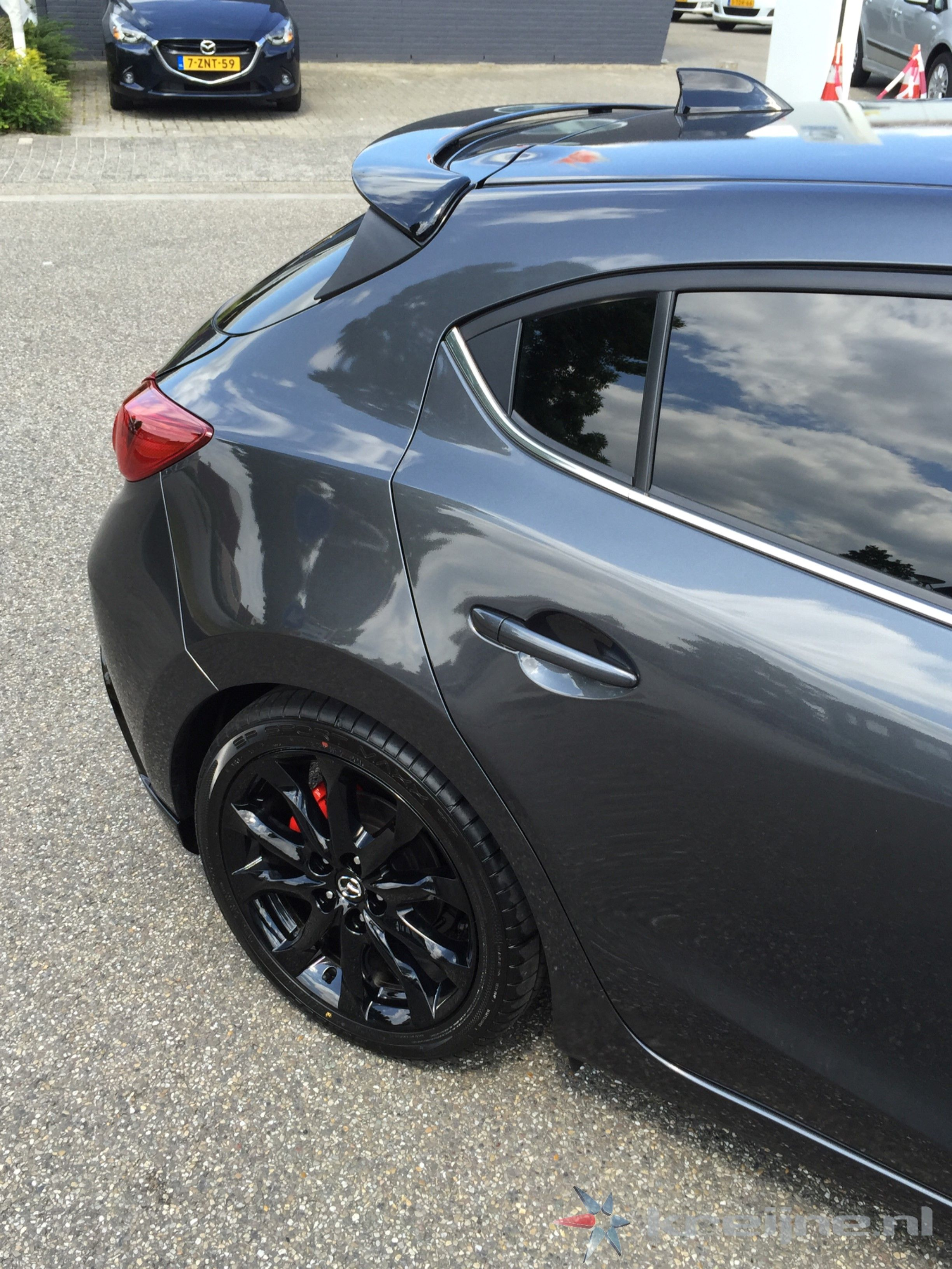 Pin By Heather Smith On Mazda 3 Meteor Grey Black Mazda 3 Hatchback Mazda 3 Sport Mazda 3