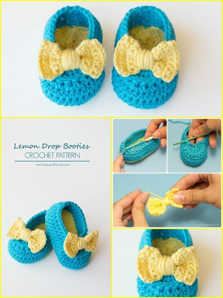 Top 40 Free Crochet Baby Booties Patterns | Bebé, Zapatos y Tejido