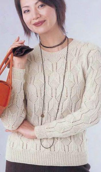 весенний свитер крючком для женщин схемы