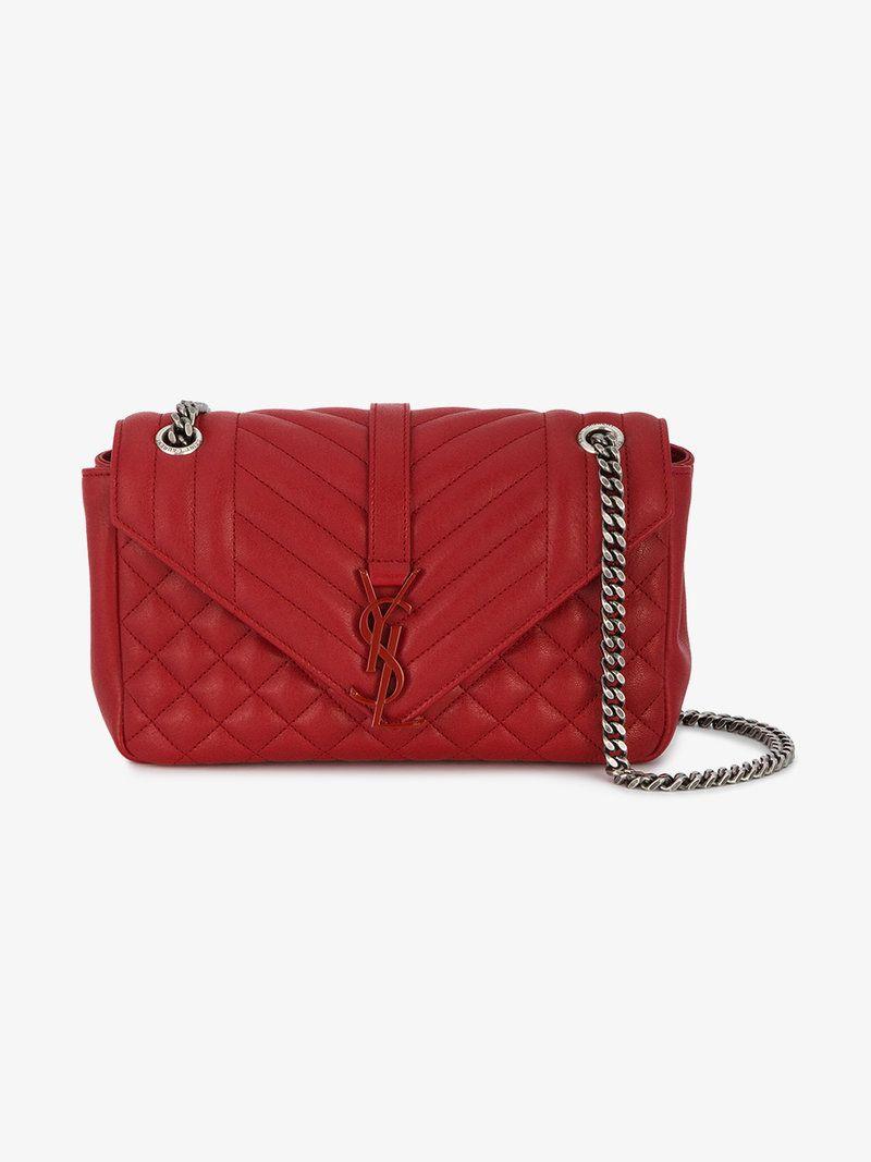 2ff92bfb7da6 SAINT LAURENT MEDIUM RED MONOGRAM QUILTED BAG. saintlaurent bags shoulder  bags new product 68966 f9023 ...
