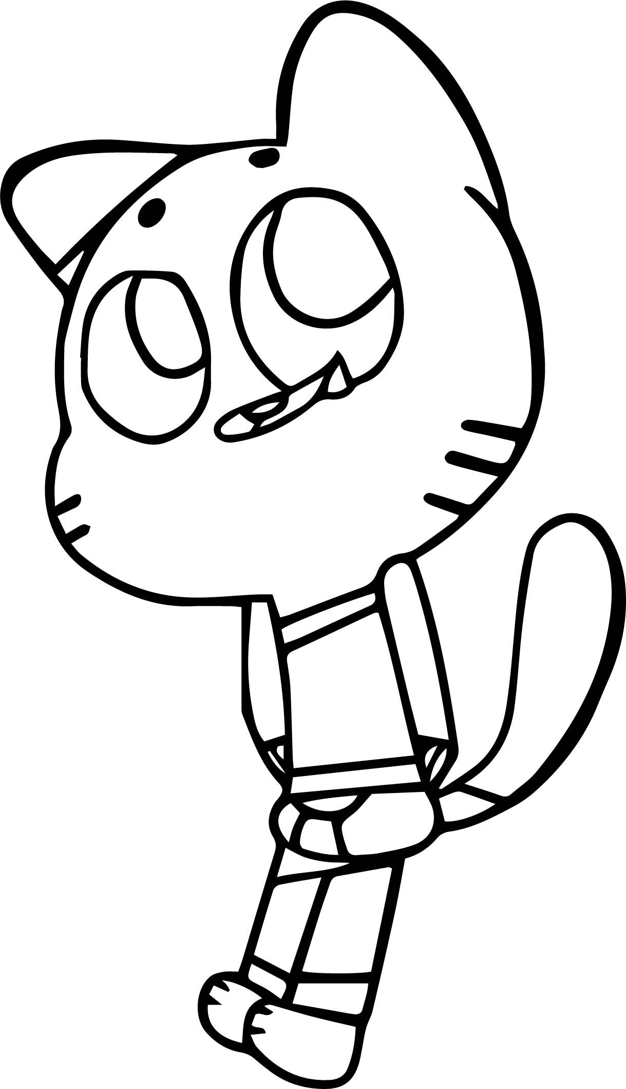 Cool The Amazing World Of Gumball Image Coloring Page Gumball
