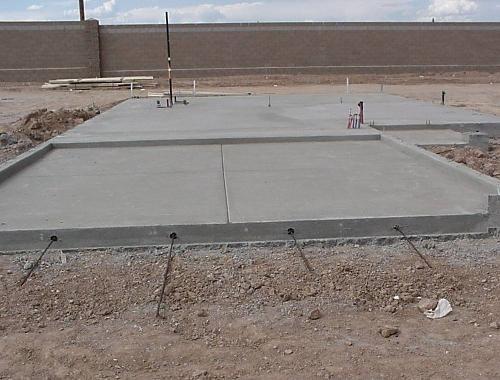 Monolithic Concrete Slab : Monolithic slab pour homebuilding construction