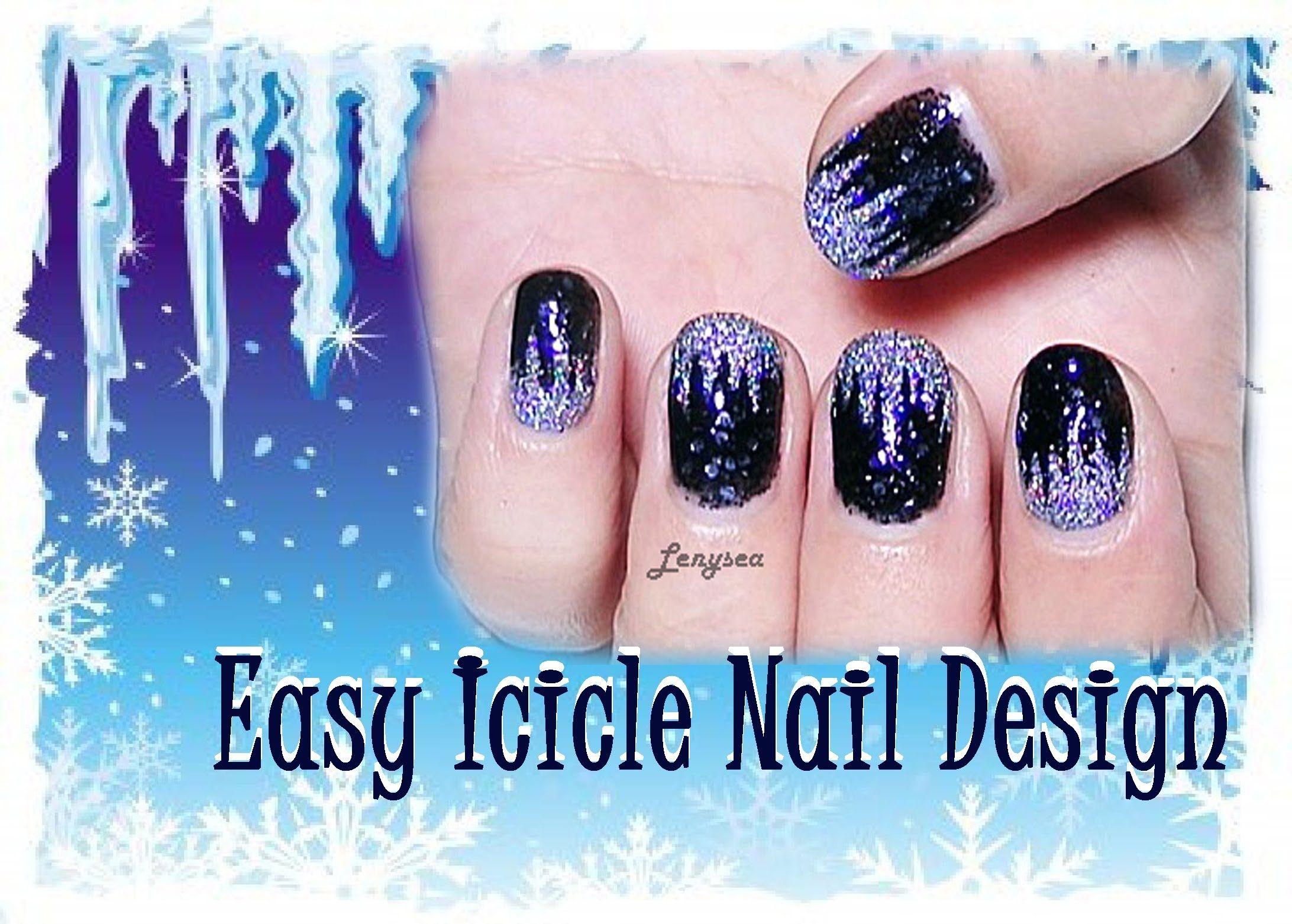 Icicle Nail Design For Short Nails Day 3 Nail Art Christmas