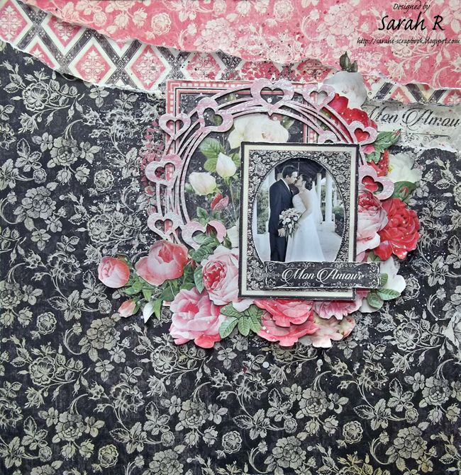 Mon Amour Layout ~ Creative Embellishments | Scrapbooking with G45 | Layout, Wedding scrapbook ...
